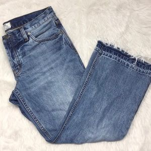 Free People kick flare cropped jeans Size 28